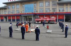 黑龙江省大庆市消防救援支队集中销毁500余件假冒伪劣消防产品