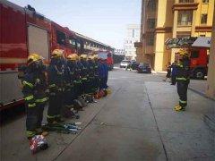哈尔滨消防开展城镇高层住宅小区灭火救援实战演练